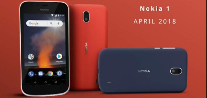 Nokia 1 con Android GO